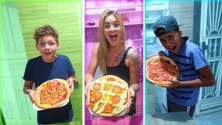 QUEM FIZER A MELHOR PIZZA EM 1 MINUTO GANHA!!!