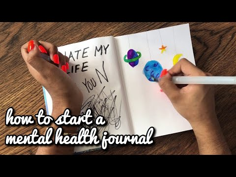 how to start a mental health journal // journal with me #1