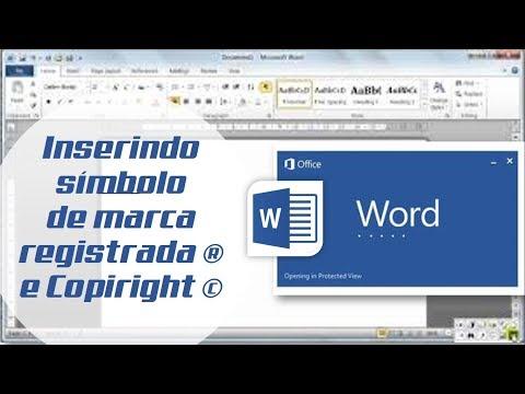 Como inserir símbolo de MARCA REGISTRADA e COPIRIGHT no Word