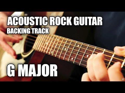 Acoustic Rock Guitar Backing Track In G Major