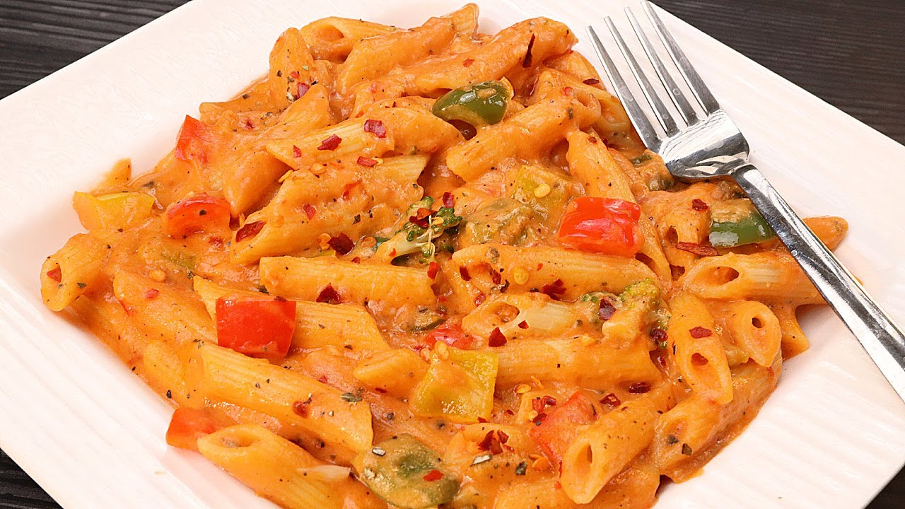 Pink Sauce Pasta Recipe   पिंक सॉस पास्ता कैसे बनाते है   How to Make Pink Sauce Pasta   Kabita