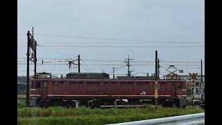 JR貨物4093レ EF81-717 鹿児島本線外戸踏切