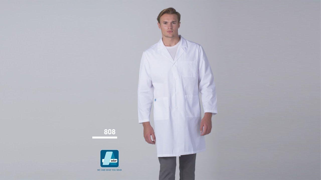 76d8ef214d4 ADAR 808 Universal Unisex Midriff Lab Coat 39