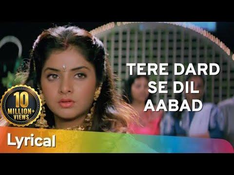 Tere Dard Se Dil Aabad Raha Deewana Movie Shahrukh Khan Rishi Kapoor- Divya Bharti
