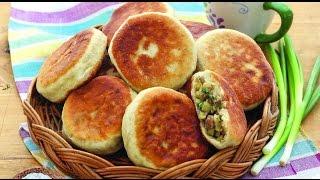 Жареные пирожки с баклажанами и мясом
