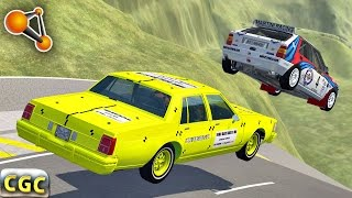 BeamNG Drive death fall insane roll over crash testing #8