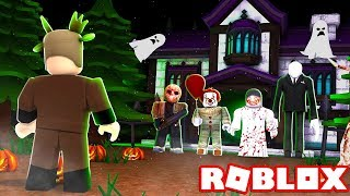 24 HOUR HAUNTED HOUSE CHALLENGE IN ROBLOX! (ROBLOX HALLOWEEN)