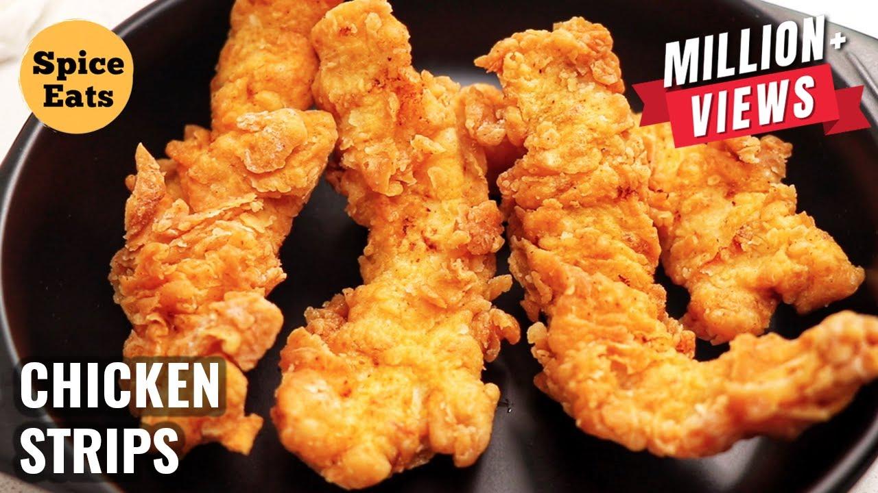 Kfc Style Crispy Chicken Strips Chicken Fingers Spicy Crispy Chicken Strips Youtube