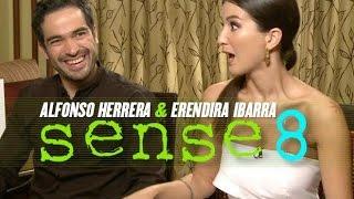 Eréndira Ibarra y Alfonso Herrera entrevista por Sense8