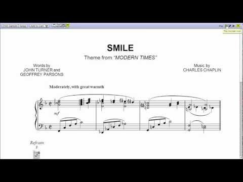 """Smile"" by Nat King Cole - Piano Sheet Music (Teaser)"