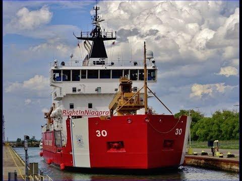 USCGC MACKINAW (WLBB-30) Raised at Lock 7, Welland Canal