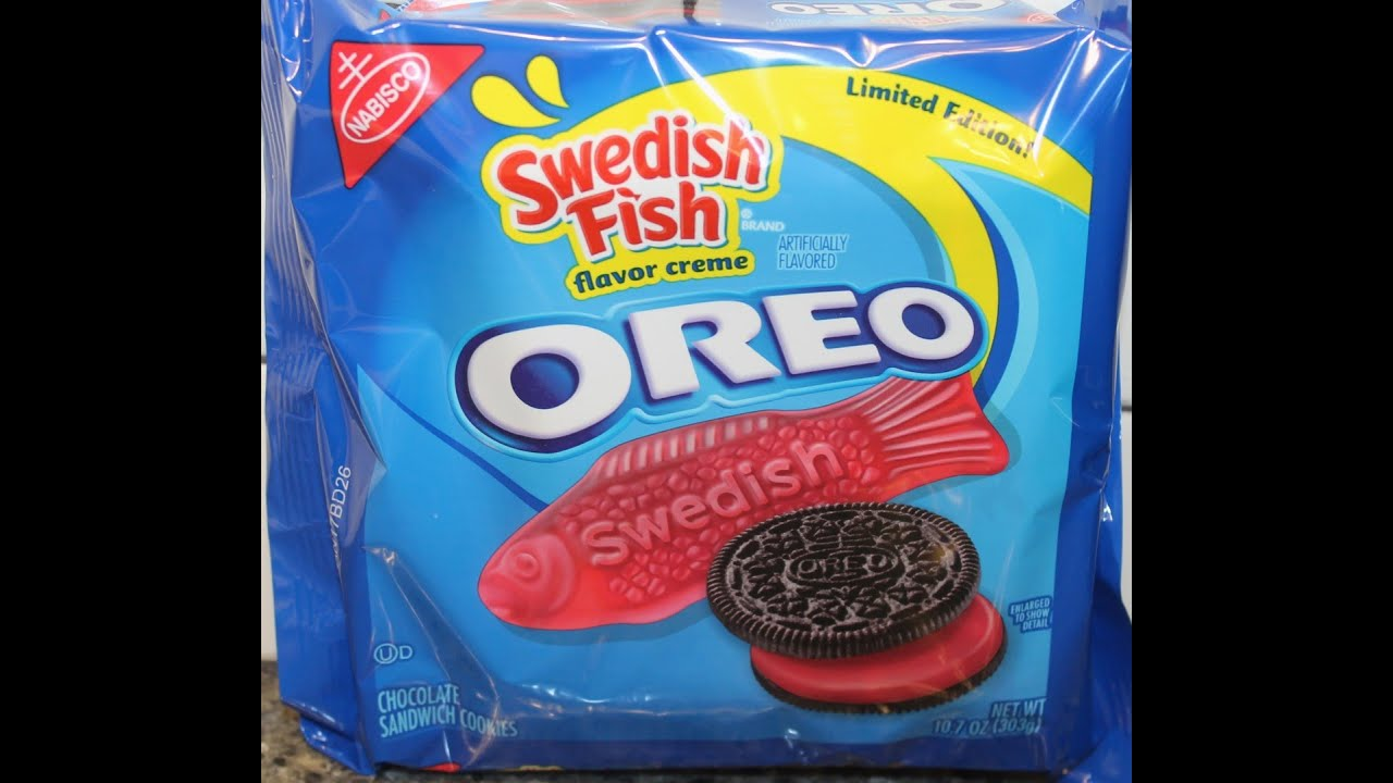 swedish fish oreo cookie review youtube