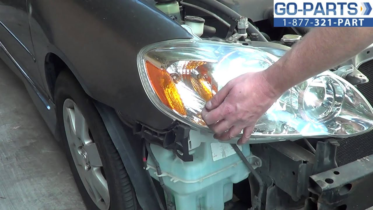 Replace 2003 2008 Toyota Corolla Headlight Bulb How To