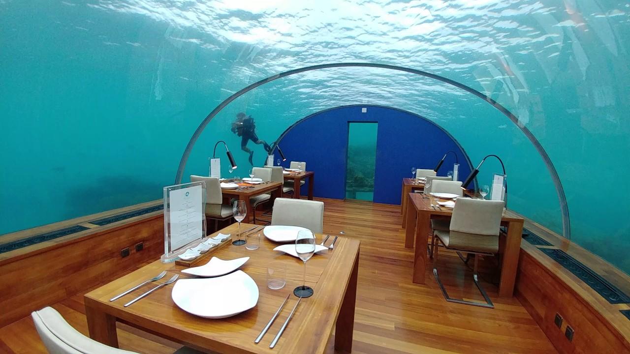 Filming Ithaa, the undersea restaurant at Conrad Maldives ...