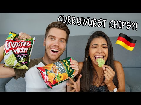 MEXICAN GIRLFRIEND tries GERMAN SNACKS for the first time!!