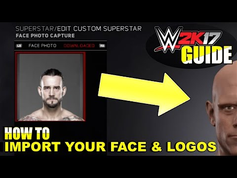 WWE 2K17 - How To IMPORT YOUR FACE & LOGOS Into #WWE2K17 (WWE 2K17 Guide)