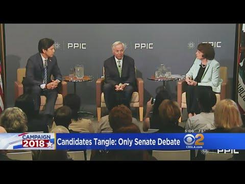 Feinstein-De Leon Spar In Only Senate Debate