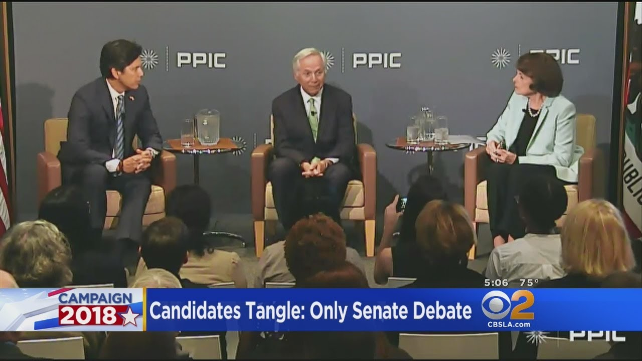 feinstein-de-leon-spar-in-only-senate-debate