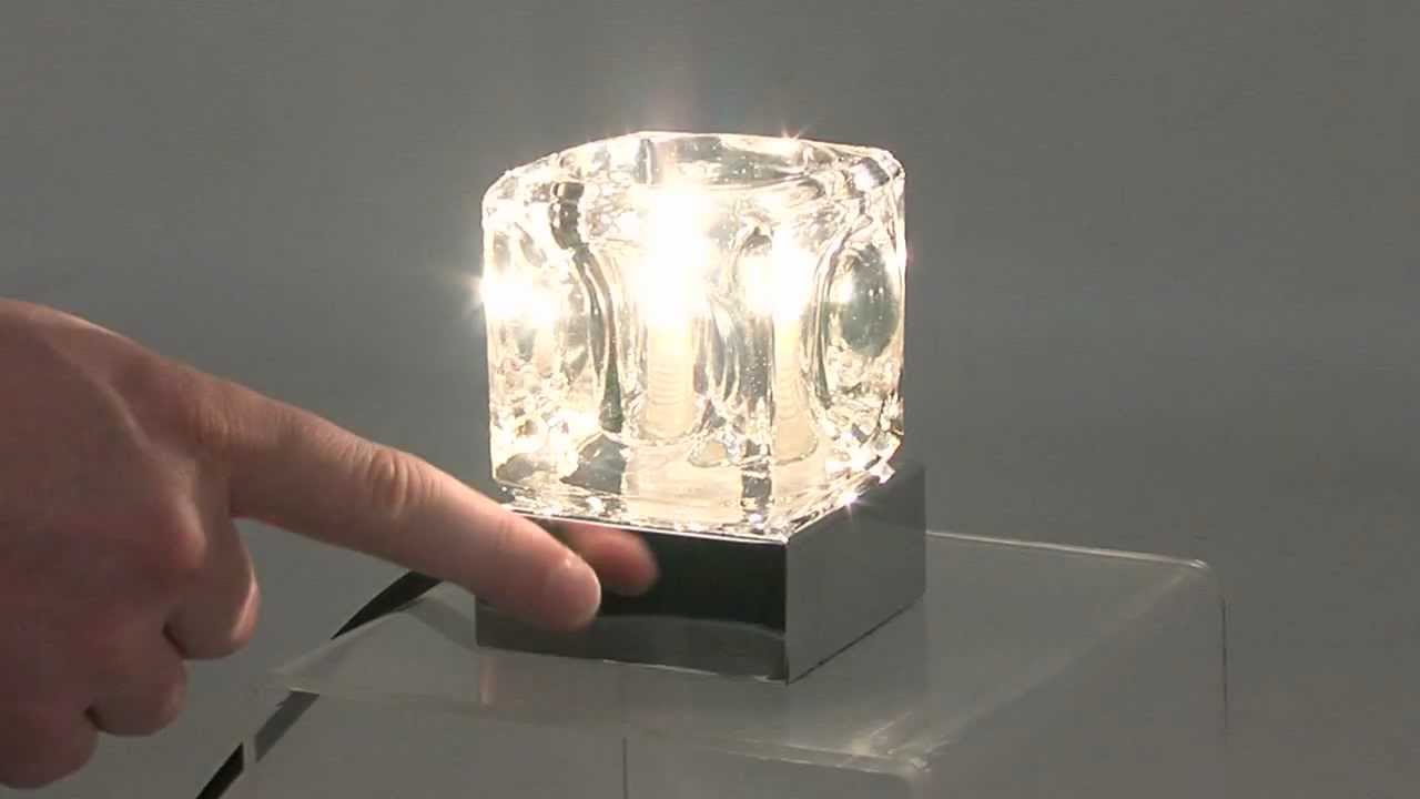 Ice Cube Touch Lamp - 14068 - LSE Retail Group - YouTube