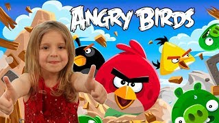 Angry Birds парк развлечений и аттракционов Детское видео Влог