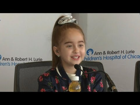 11-year-old Sofia gets new heart and new famous friend