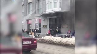 """Пожар в магазине """"Сотый"""" на площади Ленина"""