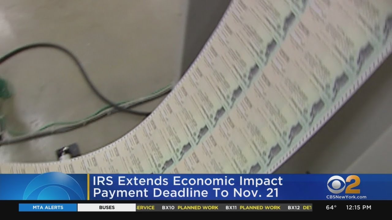 Stimulus Check Update: IRS Extending Deadline For Some To ...
