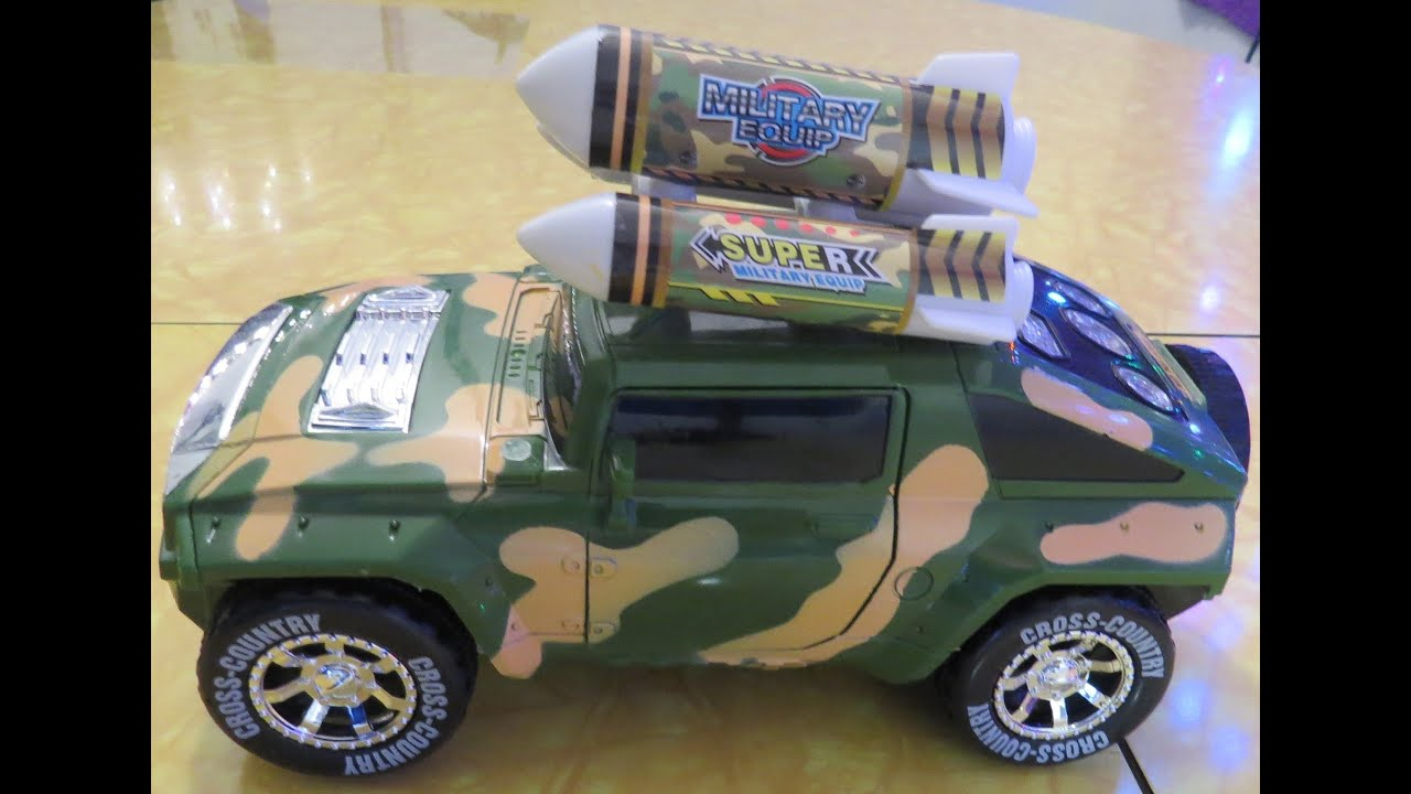 2015 Jeep Rubicon >> Yigun - Army Hummer Transformer Jeep Toy Review - YouTube
