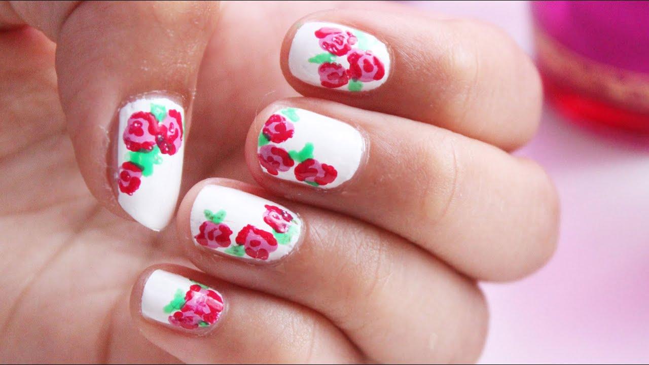 Süßes Blumen Muster für die Nägel | Sanny Kaur - YouTube