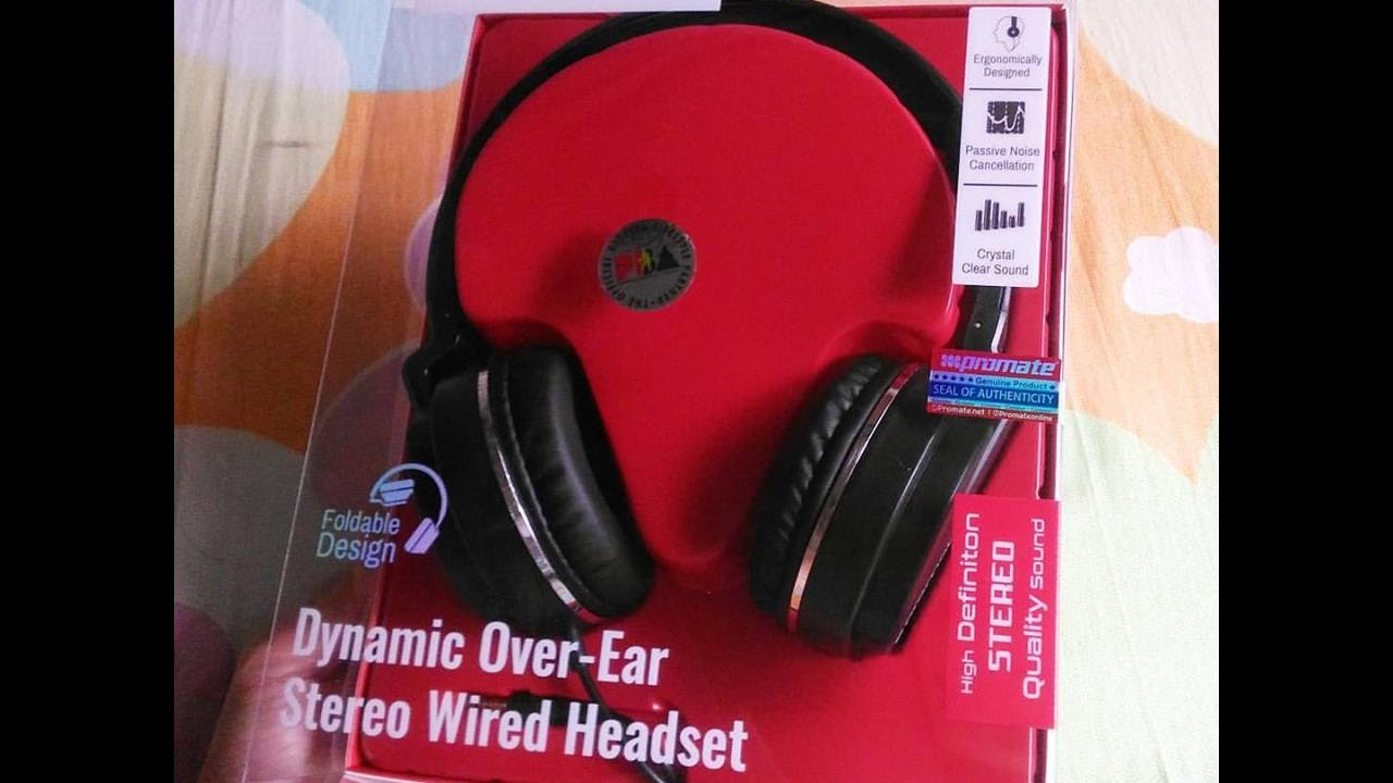 58ced802ad3 RainCHECK | Promate Encore Dynamic Over-Ear Stereo Wired Headset ...