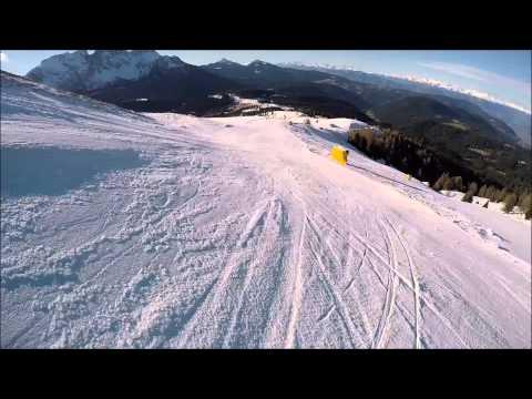Piste difficili Carezza ski: pista nera Laurin II