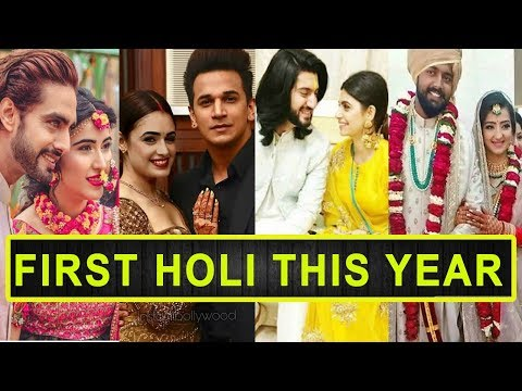 Top 14 Indian TV Couples Who Will Celebrate Their First Holi This Year