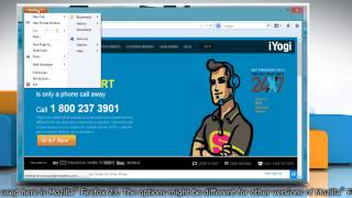 Zoom in Mozilla® Firefox on Windows® 8 PC