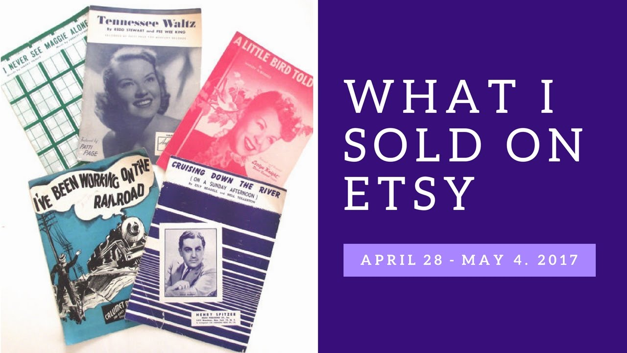 What I Sold on Etsy May 5 - 11, 2017