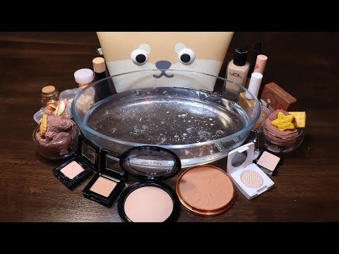 "Special Series #13 Mixing ""BEIGE"" Makeup,Parts,glitter... Into Slime! How about BEIGE?"