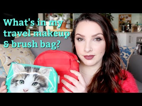 What's in my travel makeup & brush bag?