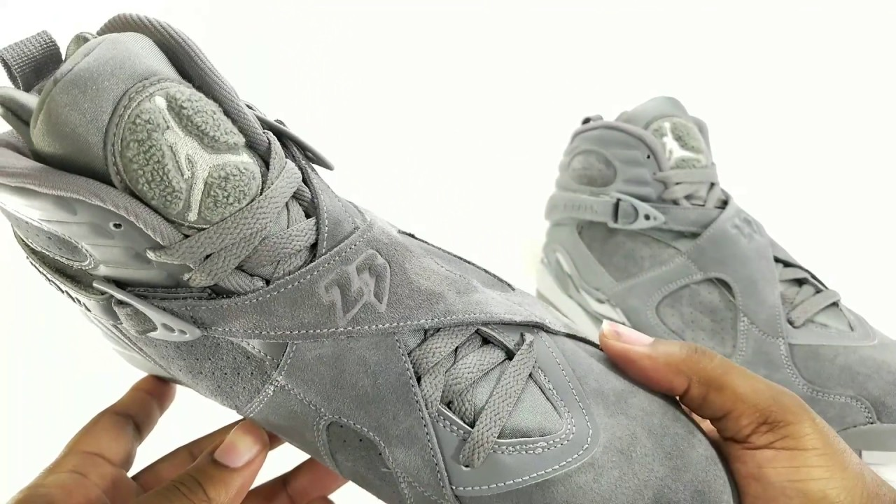 jordan 8 cool grey. fineline 1721: air jordan 8 \ cool grey
