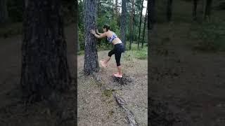 Лёгкая атлетика летом/тренировка в лесу