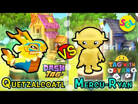 Super Rare Quetzalcoatl Dragon (Dash Tag) vs Rare MercuRyan (Tag with Ryan) iPad iPhone Race Game