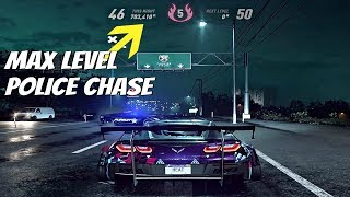 Need For Speed HEAT - Level 5 Heat Cop Chase Escape & Getting MAX Level 50 (700k+ Rep Gain)