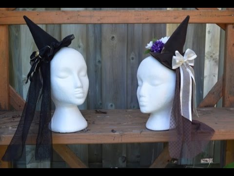 2a9793042b6 Mini Witch Hat Tutorial Lolita Inspired and Pattern - YouTube