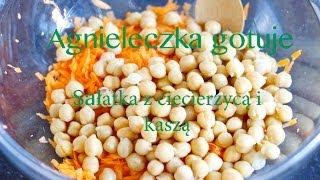 Agnieleczka gotuje - pożywna sałatka z ciecierzycą i kaszą (fit food) Thumbnail