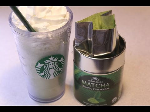 Jamba Juice Matcha Green Tea Blast Smoothie / Starbucks Green Tea Frappuccino