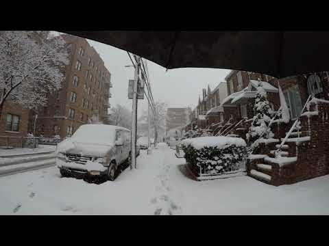 ⁴ᴷ April 2, 2018 Snow storm walk from Astoria to Long Island City