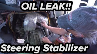 TRYING TO FIND 7.3L OIL LEAK + MONROE STEERING STABILIZER