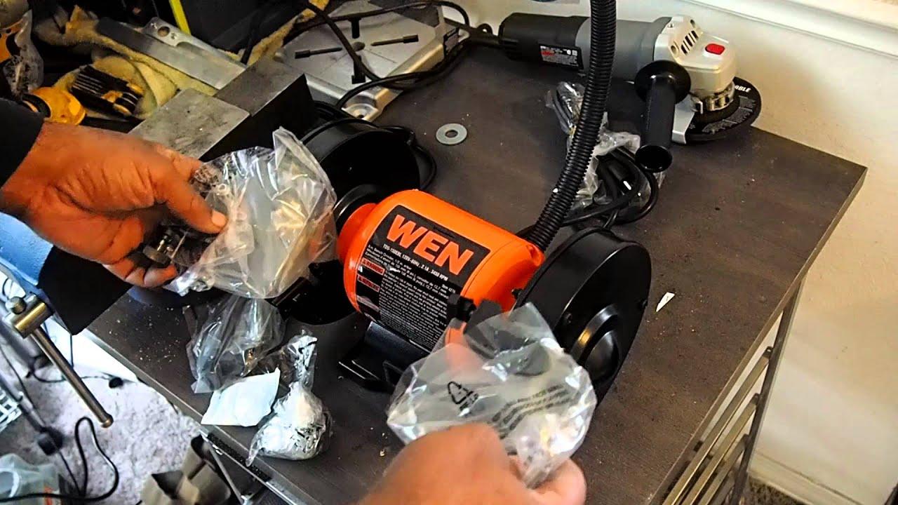 Wen 4276 6 Inch Bench Grinder Box Opening An Under 50