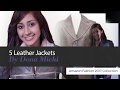 5 Leather Jackets By Dona Michi Amazon Fashion 2017 Collection