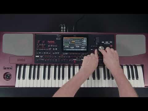 KORG Pa1000 - 01 - introduction et navigation