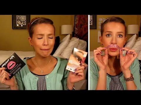 Violent Lips + Eye Rock Sticker Makeup FAIL (+a million outtakes)   LeighAnnSays thumbnail