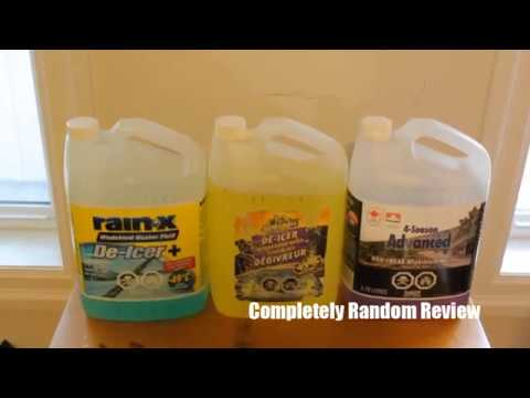 Best De Icer And 4 Season Windshield Wiper Fluid Review, Rain Ex, Armoral, Canadian Tire Windshield